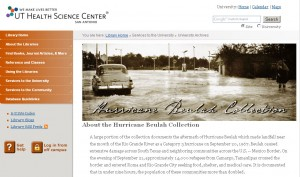 Screenshot of the Hurricane Beulah Web Exhibit